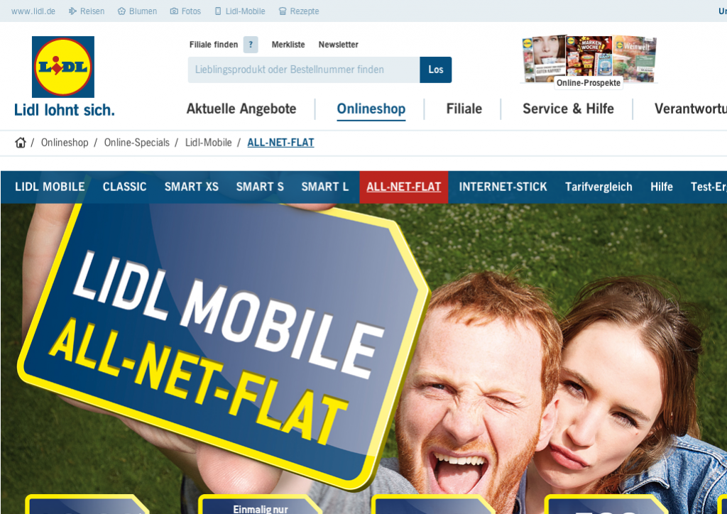 Der Lidl Mobile ALL-NET-FLAT Tarif im Test.